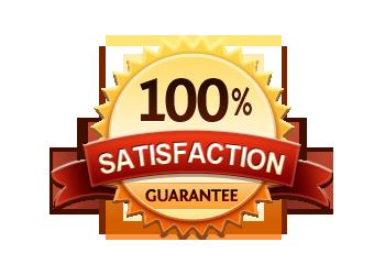 Satisfaction Guarantee 100% - Burst Badge Orange