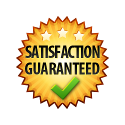 Satisfaction Guaranteed - Burst Badge Orange